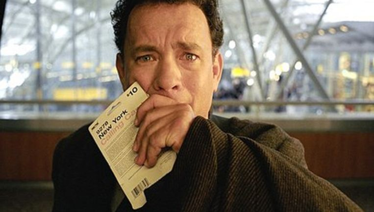 Tom Hanks in The Terminal. Beeld