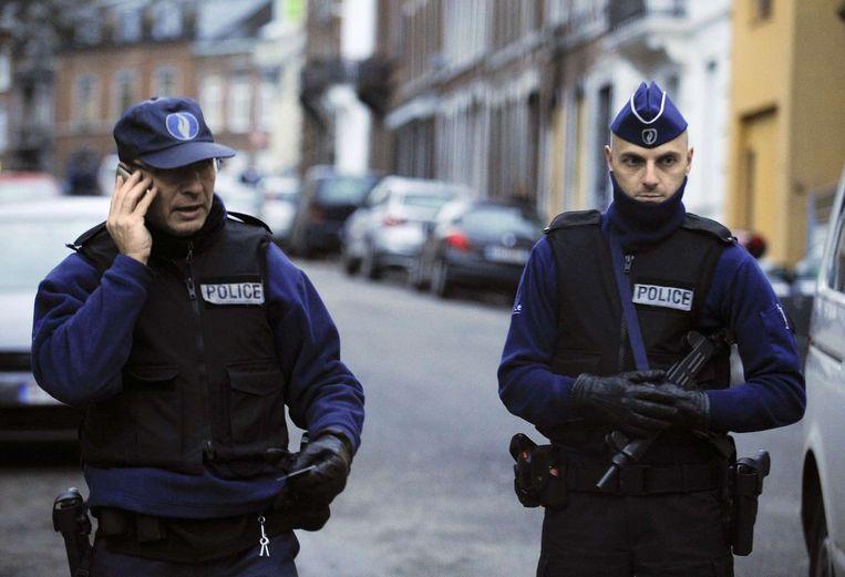 Agenten in Verviers. Beeld afp