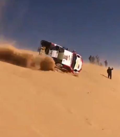 Les  tonneaux spectaculaires de Fernando Alonso pendant le Dakar