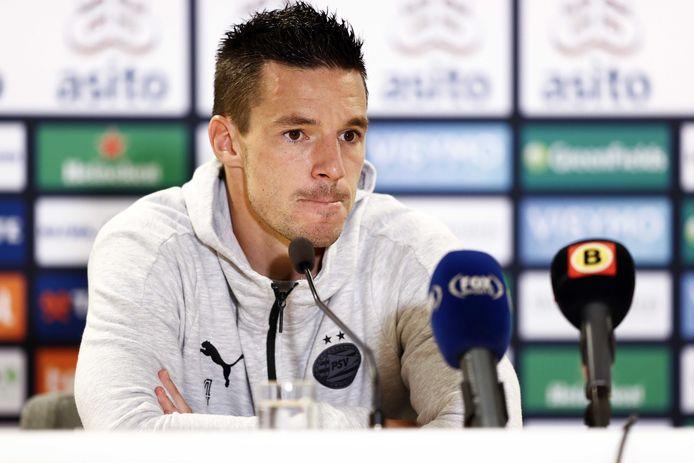 Nick Viergever baalde van het puntenverlies van PSV in Almelo.