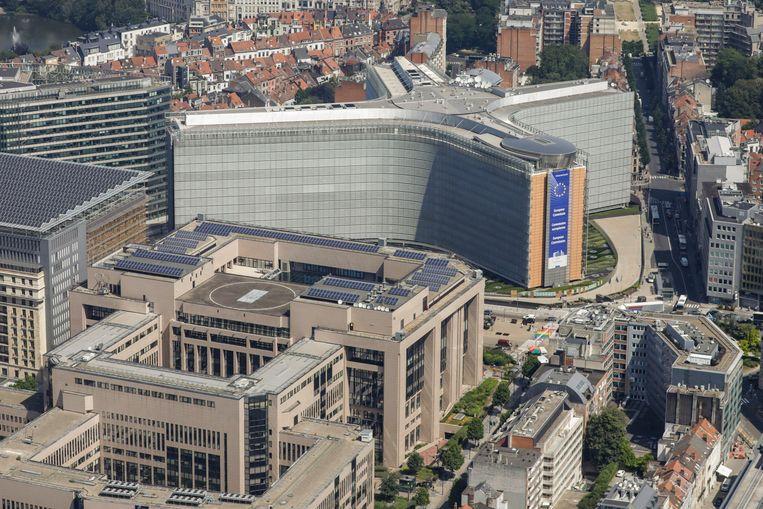 Het Berlaymontgebouw in Brussel is het hoofdkantoor van de Europese Commissie.