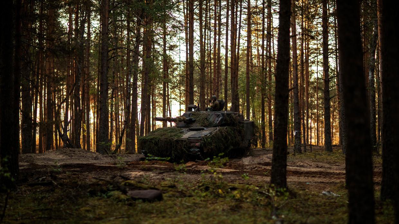 Juni 2018: militaire oefening in Pabrade, Litouwen. Beeld Jasper Verolme