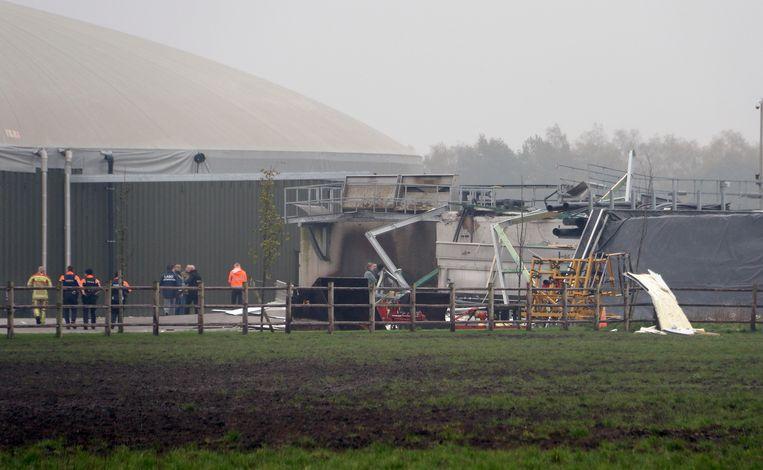 De explosie is vermoedelijk ontstaan door gasophoping in een ondergrondse leiding.