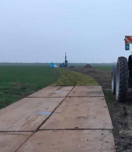 32 stalen rijplaten gestolen van veld in Kruiningen