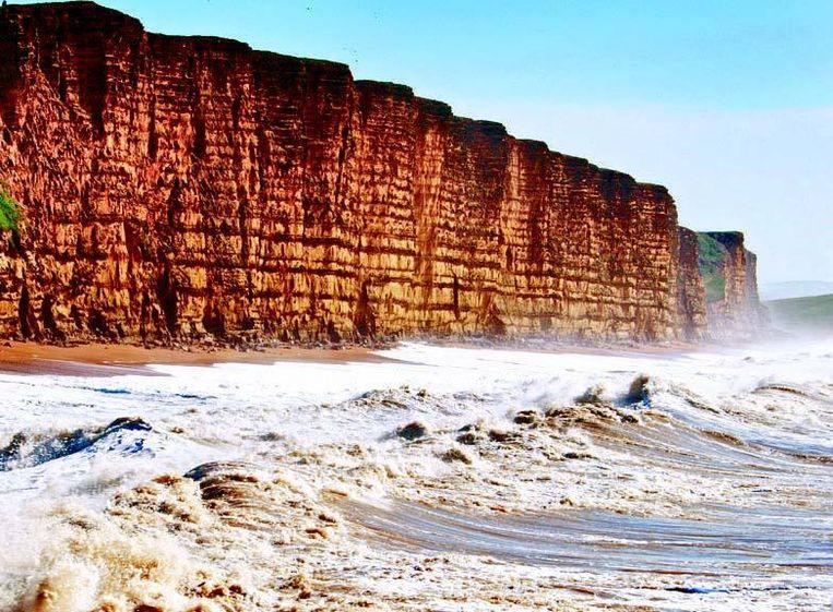 De mysterieus uitziende Jurassic Coast van Dorset werd uitgeroepen tot werelderfgoed.