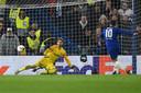Hazard maakte de beslissende penalty in de halve finale van de Europa League tegen Eintracht Frankfurt.