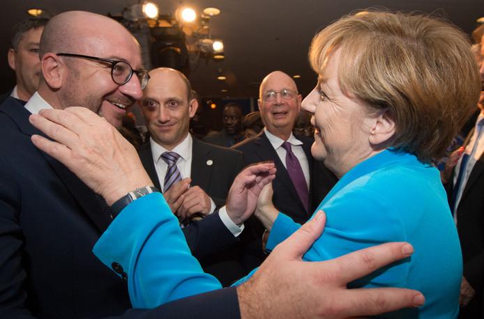 Toujours content de revoir Angela Merkel, ici aux Nations unies à New York en 2015.