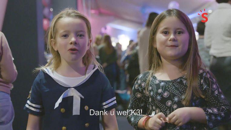 Voor Ona en Niki kwam een droom uit toen ze mochten meespelen in de film 'K3 Love Cruise'. Een woordje van dank was dan ook op zijn plaats.