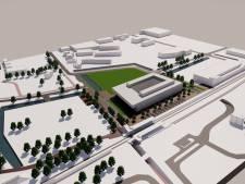 Fruitboomgaard entree tot dagziekenhuis Rijnstate in Elst; een groengordel om poli en station