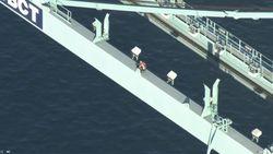 Man klimt op havenkraan na achtervolging met politie en valt te pletter