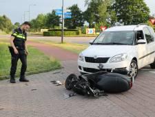 Scooterrijder aangereden bij oprit tankstation in Sprang-Capelle, automobilist zag hem over het hoofd
