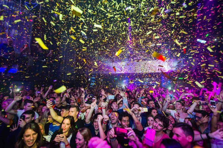 Publiek in club Escape tijdens het Amsterdam Dance Event Beeld anp