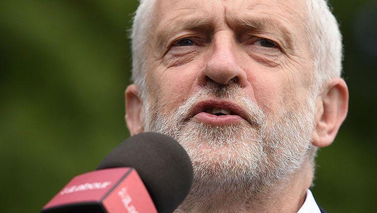 Labour-leider Jeremy Corbyn op campagne, 7 juni. Beeld afp