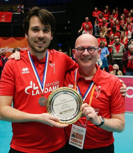 Winnend debuut Ivo Munter en Ard Kramer in eredivisie volleybal