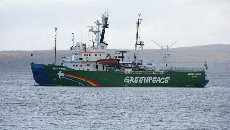 Greenpeaceschip Arctic Sunrise Beeld ANP