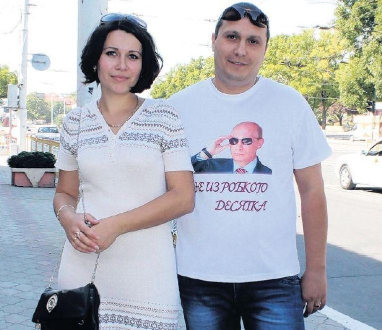 Sergej Michaelovitsj (rechts): 'Poetins wil is de mijne.' Beeld Fleur de Weerd.