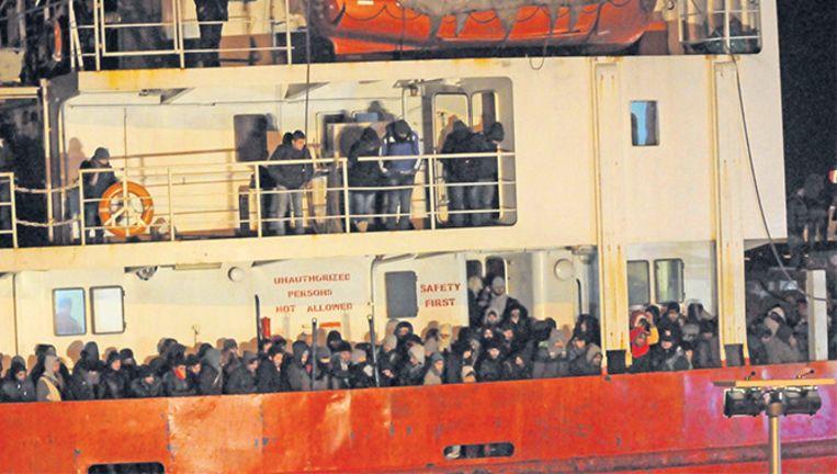 'Spookschip' Blue Sky M met aan boord honderden Syrische vluchtelingen