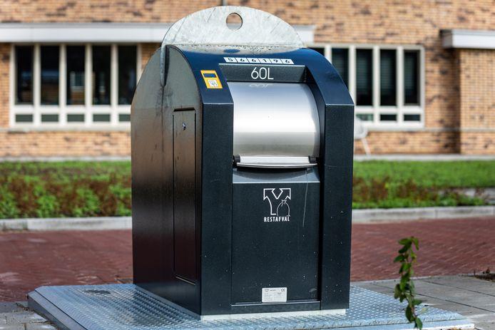 Voorbeeld van een afvalcontainer van 60 liter.
