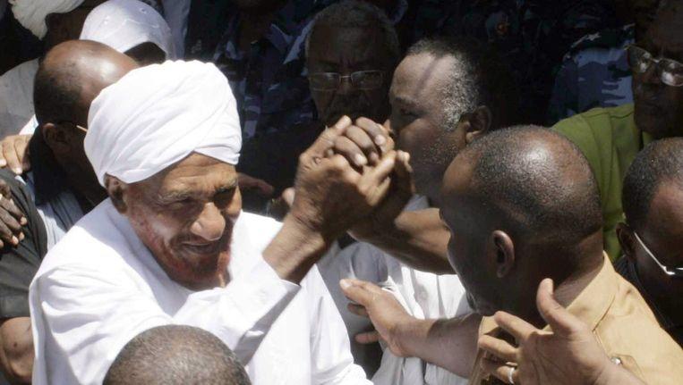 De Soedanese oppositieleider Sadiq al-Mahdi. Beeld afp