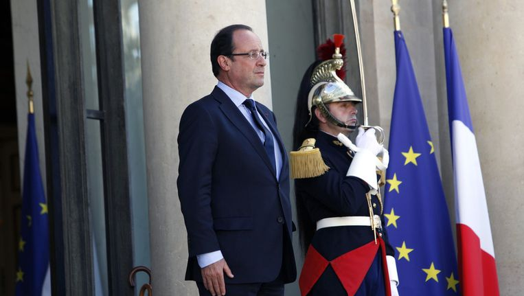 De Franse president Francois Hollande. Beeld null