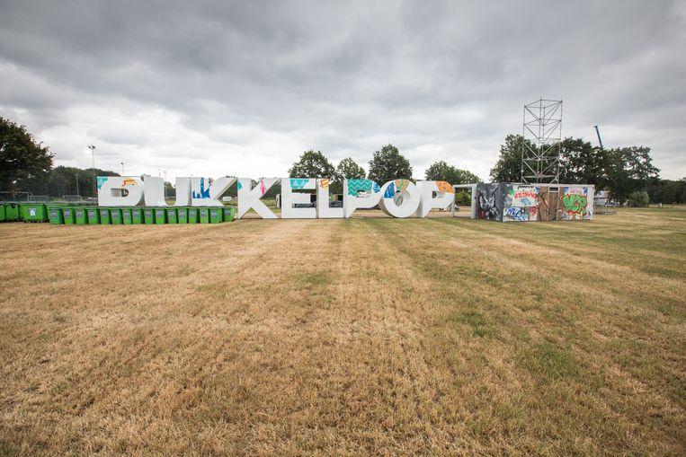 Het festivalterreing Pukkelpop in opbouw.