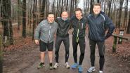 Halse Daltons serveren Italiaans om aan de start te staan van 100 km-run Kom op tegen Kanker