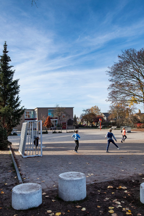 Beton eruit, bomen en gras erin: schoolplein wordt groener