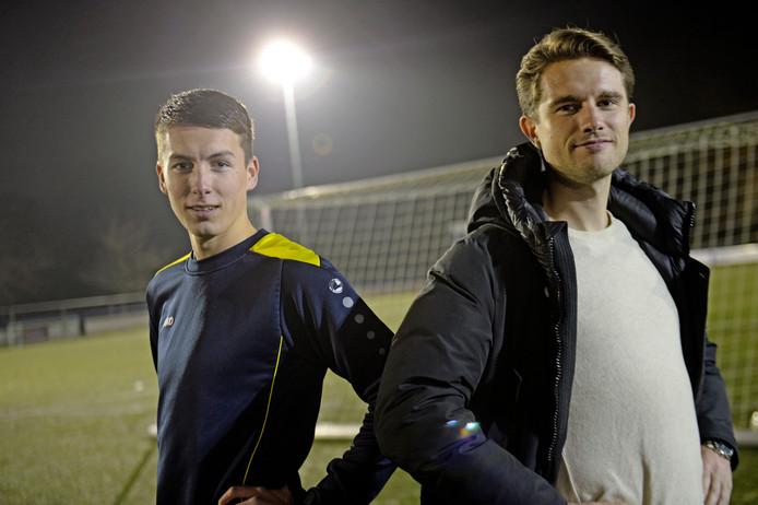 Sven Lutke Willink (links) en Jan Baake: zondag opponenten in Deldense derby