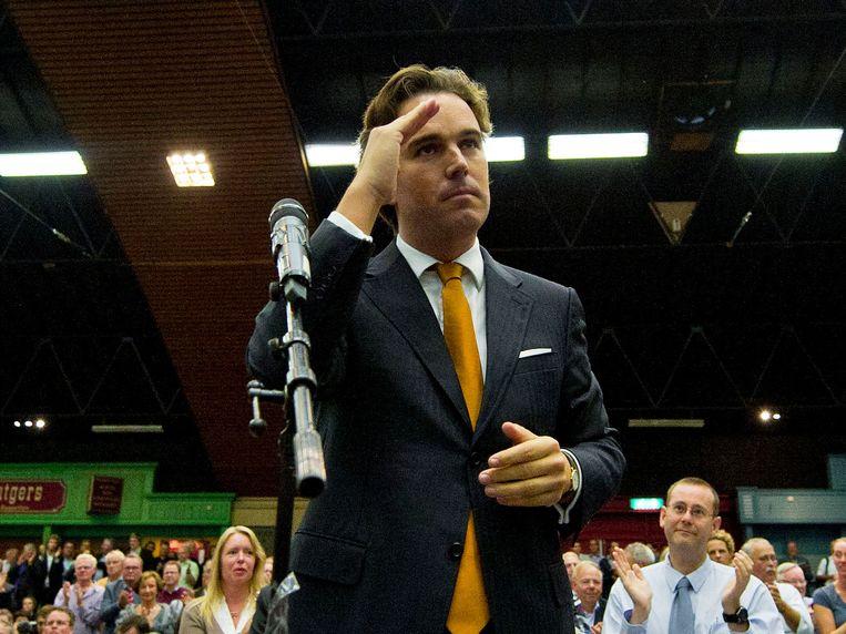 Camiel Eurlings op het legendarisch geworden CDA-congres in 2010 Beeld ANP