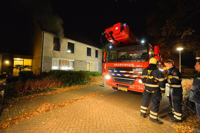 Brand in een woning in Dommelen.
