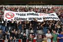 Vorig maand protesteerden PSV-fans al tegen het wedstrijdtijdstip van 20.00 uur op zondag.