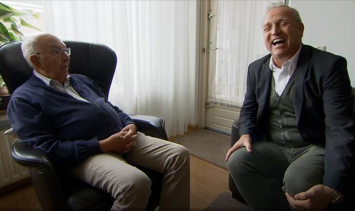 Fragment uit het SBS6-programma 100 jaar jong met presentator Gordon Heuckeroth en de 101-jarige Jaap Göbels uit Gorinchem