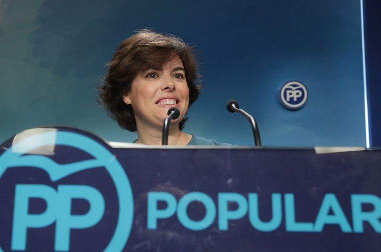 Soraya Sáenz de Santamaría Beeld EPA