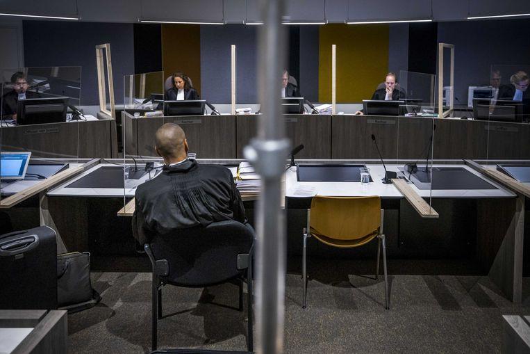 De rechtbank voorafgaand aan de inhoudelijke behandeling van de rechtszaak tegen Jos B., die wordt verdacht van het ontvoeren, misbruiken en doden van Nicky Verstappen. Beeld ANP