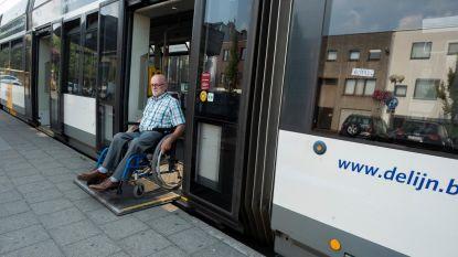 Met rolstoel vlotter de tram op