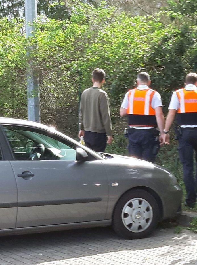 De politie van Leuven kwam meteen ter plaatse om de zaak te onderzoeken.