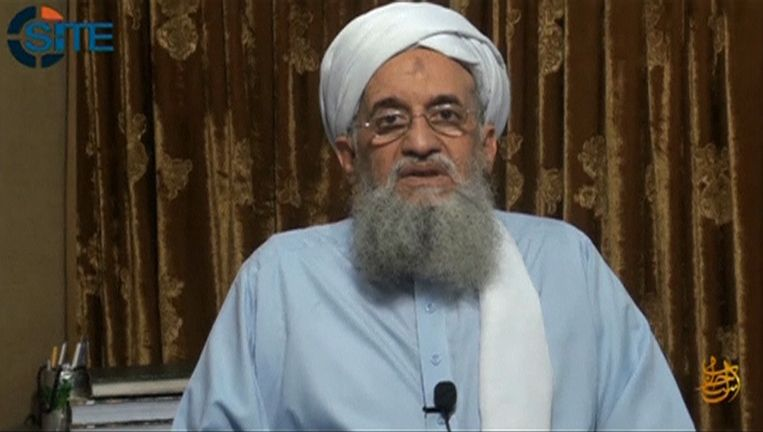 Ayman al-Zawahri, leider van Al-Qaida, in een eerdere video waarin hij spreekt vanaf een onbekende locatie. Beeld Reuters