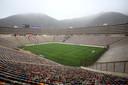 Het Estadio Nacional in Lima, waar Flamengo en River Plate zaterdagavond tegenover elkaar staan.