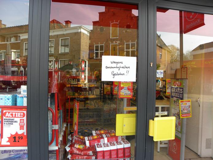 Het filiaal is gesloten na de overval.