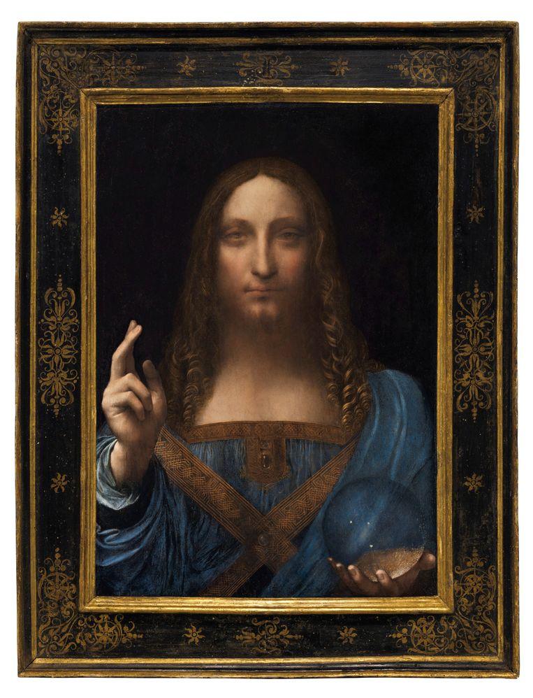 Salvator Mundi, van omstreeks 1500, waarvan nu ter discussie staat of het een echte Da Vinci is.  Beeld Reuters