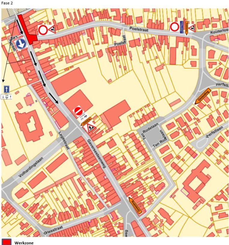 De tweede fase van de werken in de Gaversesteenweg start op dinsdag 12 november.