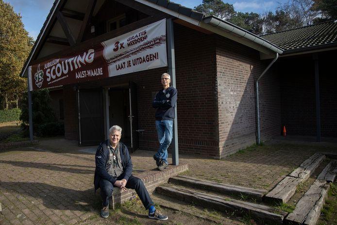 Wiljan Roijers (links) en Bart Eversdijk van Scouting Aalst-Waalre.