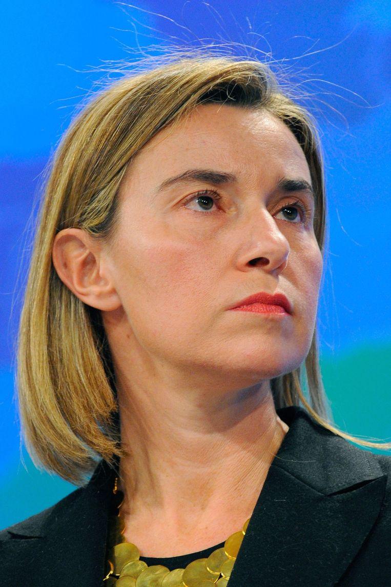 """""""Zolang we een prekerige toon blijven aanslaan, zullen we niet veel vooruitgang boeken"""", stelde Federica Mogherini."""