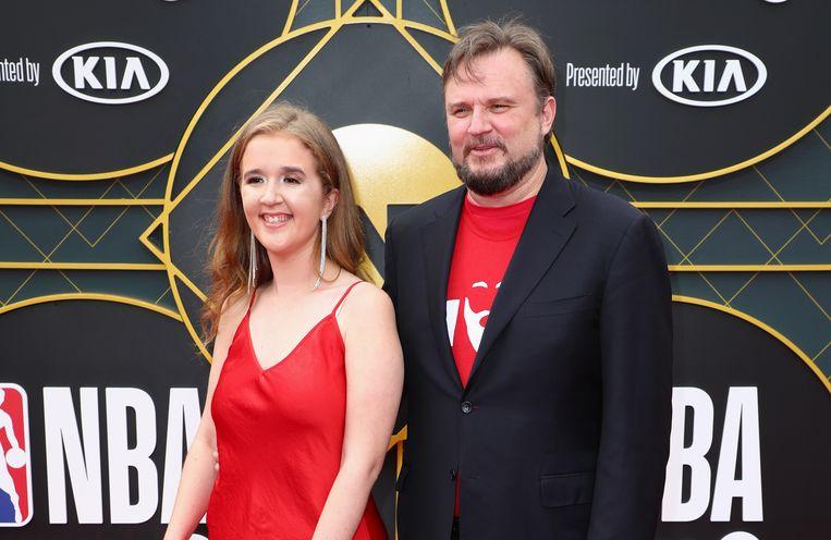 Daryl Morey met zijn vrouw Ellen.