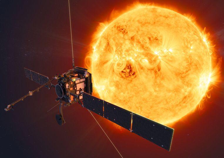 Illustratiebeeld van de Solar Orbiter.