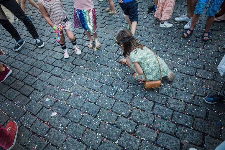 Confetti bij Vlasmarkt for Kids