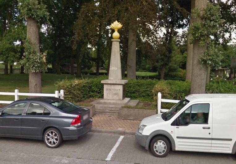 Het monument dat herinnert aan de Slag van het Sterrebos