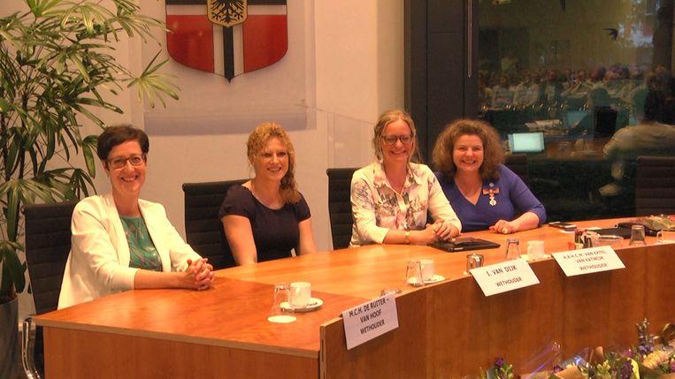 De vier vrouwelijke wethouders in Gemert Beeld rv