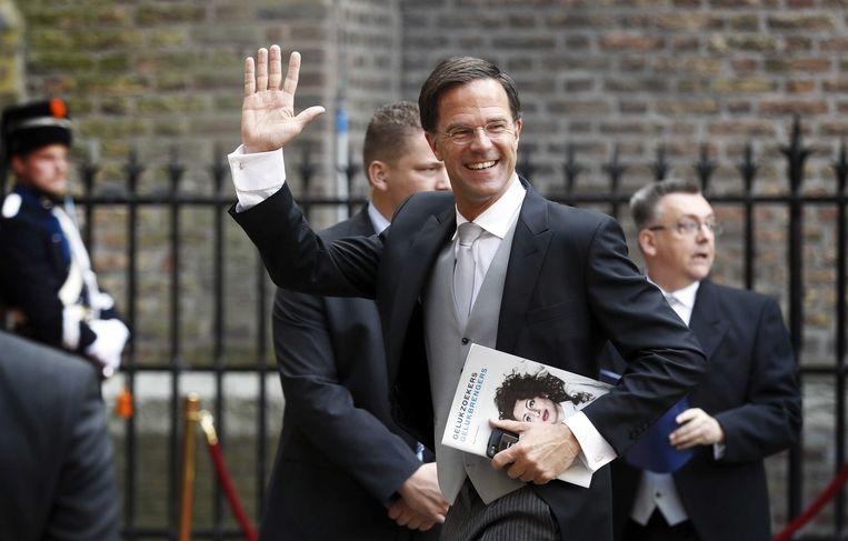 Premier Mark Rutte arriveert bij de Ridderzaal op Prinsjesdag. Beeld anp