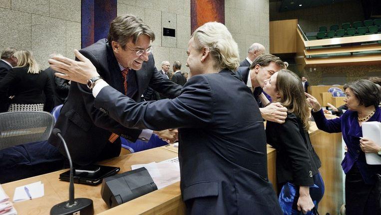 Maxime Verhagen en Geert Wilders. Beeld
